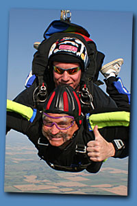 tandem accelerated freefall red deer